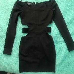 Bebe black scuba dress size xxs